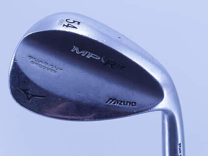 Mizuno MP-R 12 Black Satin Wedge Sand SW 54° 9 Deg Bounce Dynamic Gold Spinner Steel Wedge Flex Right Handed 35.25in