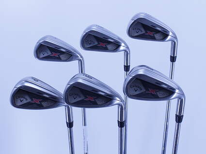 Callaway 2013 X Hot Iron Set 5-PW True Temper Speed Step 85 Steel Stiff Right Handed 38.25in