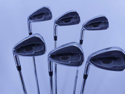 Ping S57 Iron Set 5-PW Ping AWT Steel Stiff Left Handed Red dot 38.0in