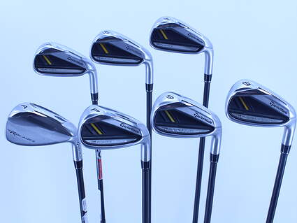 TaylorMade Rocketbladez Iron Set 5-GW TM Matrix RocketFuel 65 Graphite Senior Right Handed 38.5in