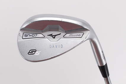 Mizuno S5 White Satin Wedge Gap GW 50° 7 Deg Bounce Project X LZ 5.5 Steel 5.5 Right Handed 35.5in