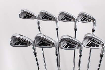 Ping I20 Iron Set 3-PW Stock Steel Shaft Steel Stiff Right Handed Green Dot 38.0in