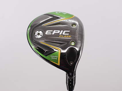 Callaway EPIC Flash Fairway Wood 7 Wood 7W 20° Project X Even Flow Green 65 Graphite Stiff Right Handed 42.75in
