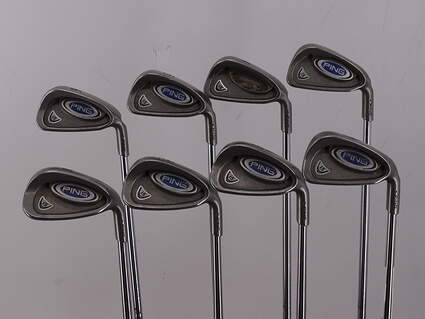 Ping i5 Iron Set 3-PW Stock Steel Shaft Steel Stiff Right Handed Green Dot 38.0in