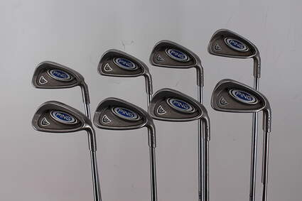 Ping i5 Iron Set 3-PW Stock Steel Shaft Steel Stiff Right Handed Green Dot 37.75in