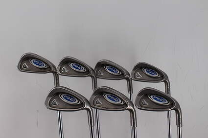 Ping i5 Iron Set 4-PW Stock Steel Shaft Steel Stiff Right Handed Green Dot 38.0in