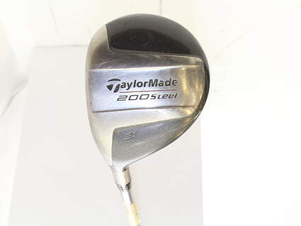 TaylorMade 200 Steel Fairway Wood 3 Wood 3W Stock Steel Shaft Steel Stiff Left Handed 42.5 in
