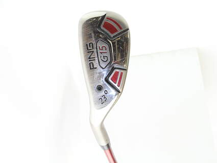 Ping G15 Hybrid 4 Hybrid 23* Stock Graphite Shaft Graphite Senior Left Handed 39.25 in