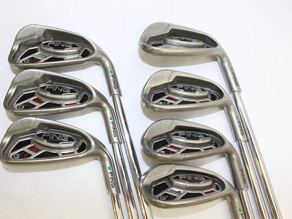 Ping G15 Iron Set 7-PW GW SW LW Ping AWT Steel Senior Right Handed 37.5 in