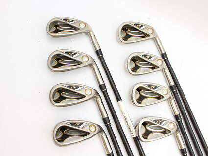 TaylorMade R7 Draw Iron Set 4-PW GW TM Reax 55 Graphite Stiff Right Handed 38.25 in