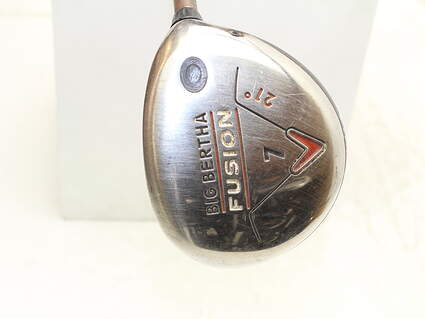 Callaway Big Bertha Fusion Fairway Wood 7 Wood 7W 21* Aldila NVS 55 Graphite Ladies Right Handed 40.75 in