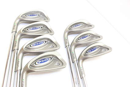 Ping i5 Iron Set 4-PW Ping Z-Z65 Steel Stiff Left Handed Green Dot 38 in