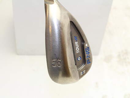 Ping Tour-W Brushed Silver Wedge Sand SW 56* 10 Deg Bounce W Grind Ping AWT Steel Stiff Right Handed White Dot 35 in