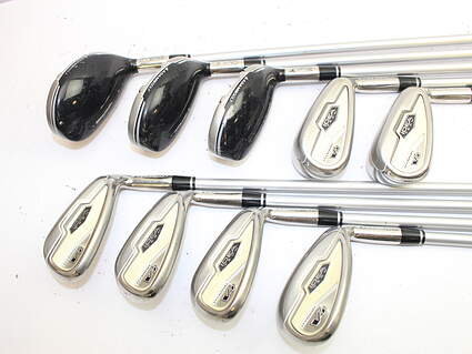 Adams Idea Tech V4 Iron Set 4H 5H 6H 7-PW SW Stock Graphite Shaft Graphite Ladies Right Handed 38 in