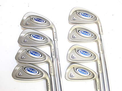 Ping i5 Iron Set 3-PW Stock Steel Shaft Steel Stiff Right Handed 37.5 in