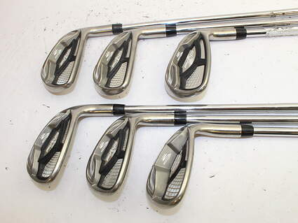 Cobra AMP Cell Silver Iron Set 6-SW Cobra AMP Max Steel Stiff Right Handed 37.75 in
