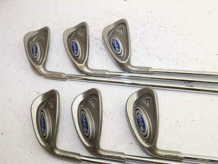 Ping i5 Iron Set 5-PW Stock Steel Shaft Steel Stiff Left Handed Black Dot
