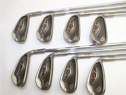 Ping G10 Iron Set 5-PW GW SW Ping AWT Steel Regular Right Handed White Dot 38.0in