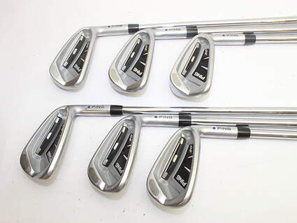 Ping I20 Iron Set 5-PW Ping CFS Steel Stiff Right Handed Blue Dot 37.5in