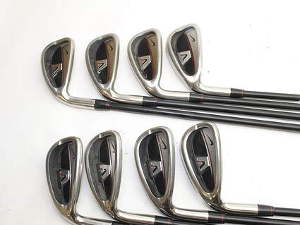 Nike Victory Red Cavity Back Iron Set 4-PW GW Stock Graphite Shaft Graphite Regular Left Handed 38.0in