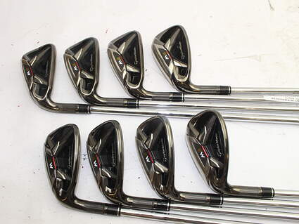 TaylorMade 2016 M2 Iron Set 5-PW GW SW Stock Steel Shaft Steel Stiff Left Handed 38.25in