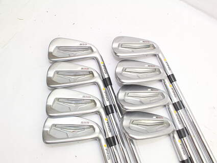 Ping S55 Iron Set 3-PW KBS Tour 130 Steel X-Stiff Right Handed Yellow Dot 38.5in
