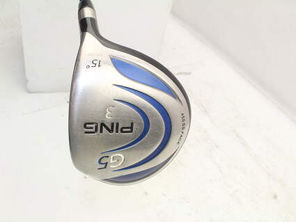 Ping G5 Fairway Wood 3 Wood 3W 15° Callaway Fujikura Fit-On E360 Graphite Stiff Right Handed 43.0in