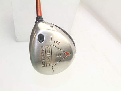 Callaway Big Bertha Fusion Fairway Wood 5 Wood 5W 19° Aldila NVS 55 Graphite Senior Right Handed 42.0in
