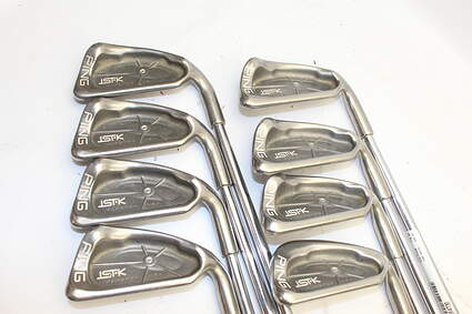 Ping ISI K Iron Set 3-PW Ping JZ Steel Stiff Right Handed White Dot 38.75in
