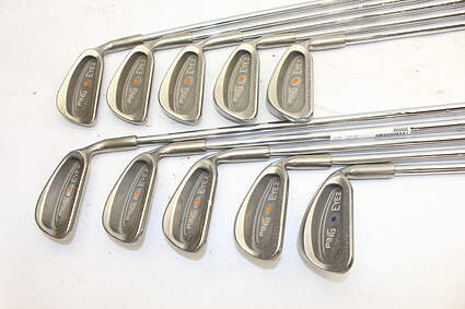Ping Eye 2 Iron Set 1-PW Ping Microtaper Steel Stiff Right Handed Orange Dot 37.75in