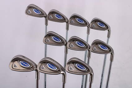 Ping i5 Iron Set 3-SW Ping AWT Steel Regular Right Handed Black Dot 37.75in