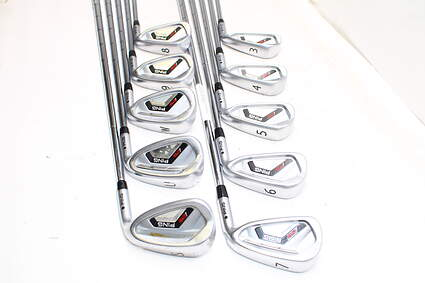 Ping I25 Iron Set 3-PW GW SW Ping CFS Steel Stiff Right Handed Black Dot 38.25in
