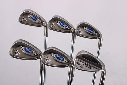 Ping i5 Iron Set 5-PW Ping CFS Steel Stiff Right Handed Green Dot 38.5in