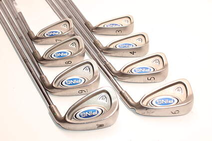 Ping i5 Iron Set 3-PW Ping AWT with Cushin Insert Steel Regular Right Handed Green Dot 37.75in