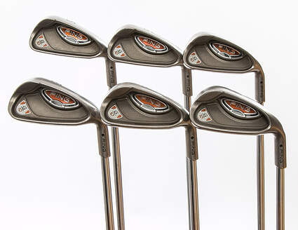 Ping G10 Iron Set 5-PW Ping AWT Steel Stiff Right Handed Black Dot 37.75 in