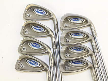 Ping i5 Iron Set 3-PW Stock Steel Shaft Steel Stiff Right Handed White Dot 38.25 in