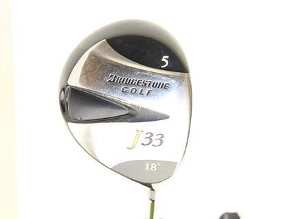 Bridgestone J33 Fairway Wood 5 Wood 5W 18* Stock Graphite Shaft Graphite X-Stiff Right Handed 42.5 in