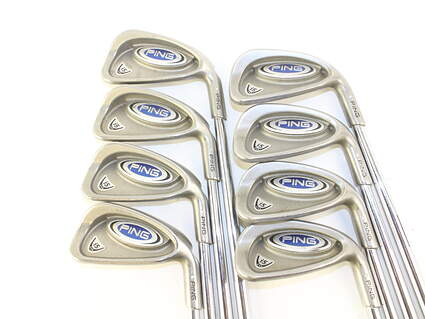 Ping i5 Iron Set 3-PW Stock Steel Shaft Steel Stiff Right Handed Silver Dot 38 in