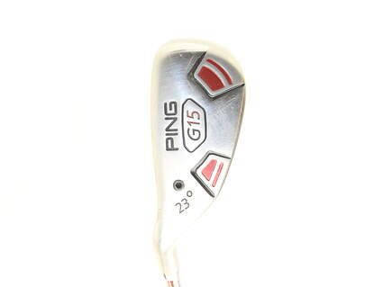 Ping G15 Hybrid 4 Hybrid 23* Stock Graphite Shaft Graphite Stiff Left Handed 39 in