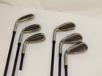 TaylorMade Supersteel Iron Set 5-PW Stock Graphite Shaft Graphite Regular Left Handed 38.5 in