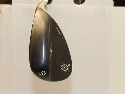 Titleist Vokey SM5 Raw Black Wedge Lob LW 58* 8 Deg Bounce M Grind Project X 6.0 Steel Stiff Right Handed 35.5 in