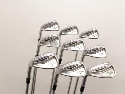 Callaway Apex Pro Iron Set 3-GW FST KBS Tour 120 Steel Stiff Left Handed 38 in
