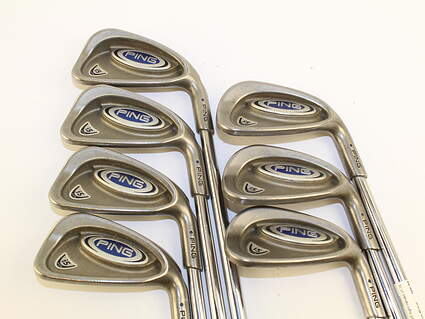 Ping i5 Iron Set 4-PW Stock Steel Shaft Steel Stiff Right Handed 37.75 in