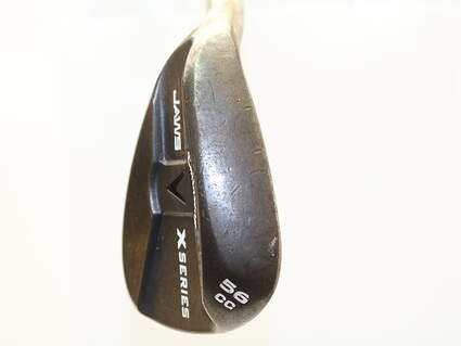 Callaway X Series Jaws Black Wedge Sand SW 56* 12 Deg Bounce Stock Steel Shaft Steel Wedge Flex Left Handed 35 in