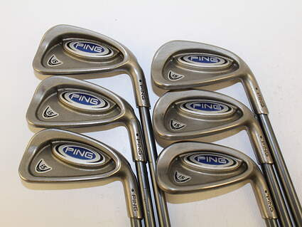 Ping i5 Iron Set 5-PW Stock Graphite Shaft Graphite Stiff Right Handed Black Dot 38 in