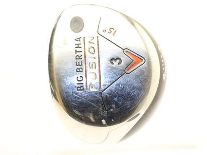 Callaway Big Bertha Fusion Fairway Wood 3 Wood 3W 15* Stock Graphite Shaft Graphite Ladies Right Handed 42.75 in