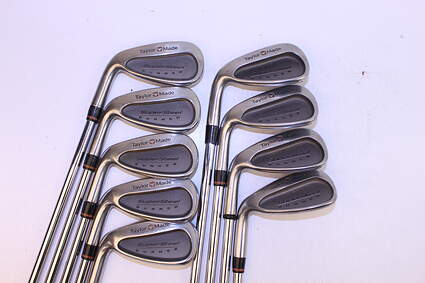 TaylorMade Supersteel Iron Set 3-PW Stock Graphite Shaft Steel Stiff Left Handed 37.5 in