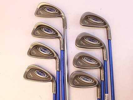 Ping i5 Iron Set 3-PW Grafalloy Blue Graphite Stiff Right Handed 38.0in