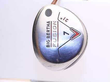 Callaway Big Bertha Fusion Fairway Wood 7 Wood 7W 21° Aldila NVS 55 Graphite Ladies Right Handed 41.0in