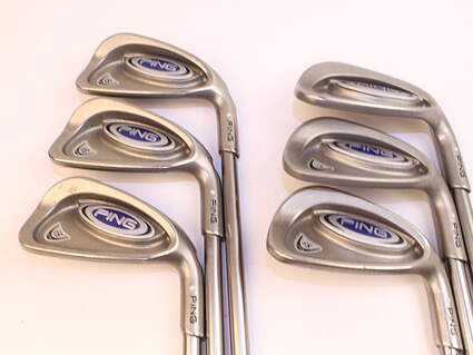 Ping i5 Iron Set 5-PW Stock Graphite Shaft Graphite Stiff Right Handed 38.0in